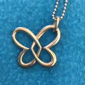 James Avery entwined Heart/butterfly Pendant